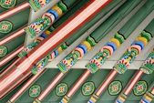 Korean Traditional Architecture Detail — Stock Photo