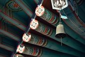 Wind chime of korean traditional temple — Stock Photo