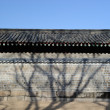 A wall in Jongmyo, Korean historic building — Stock Photo