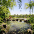 Bridge in the ByeokChoji arboretum, Korea — Stock Photo