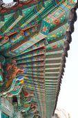 Korean Traditional Architecture Detail — Stock Photo
