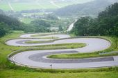 Odo-Jae, winding road in Korea — Stock Photo