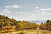 Un camino en el campo en otoño, geumsan, corea del sur — Foto de Stock