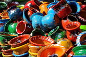 Colour full pottery — Stock Photo