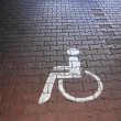 Wheelchair user unprohibited — Stock Photo