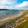 Beautiful summer arctic landscape with bay. Barents Sea — Stock Photo