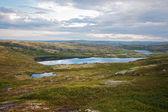 夏季极地景观与湖 — 图库照片
