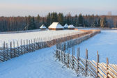 Winter scene in the countryside. — Stock Photo