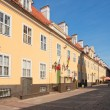 Jacob's barracks - the longest building in Riga — Stock Photo