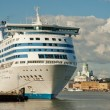 Cruise ship at Helsinki port — Stock Photo