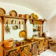 Antique kitchen interior — Stock Photo #22002159