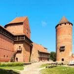 Ruins of medieval Turaida castle museum in Latvia — Stock Photo