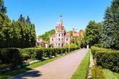Sigulda stadsfullmäktige i 19: e talet slott, lettland — Stockfoto