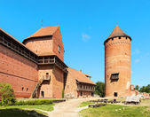 Ruins of medieval Turaida castle museum in Latvia — Stock Photo