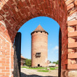 Fragment of medieval Turaida castle ruins in Latvia — Stock Photo
