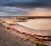 Coastal landscape of a small island — Foto Stock