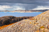 Mountain landscape by the Norwegian Sea — Стоковое фото