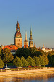Riga, the capital of Latvia by the Daugava river — Stock Photo