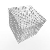 Cube design isolated over white — Stock Photo