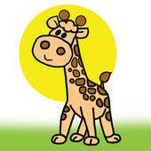 Beyaz arka planda izole annem ve bebek zürafa. — Stok fotoğraf
