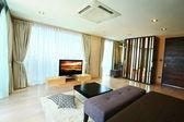 Modern master bedroom interior. — Stock Photo