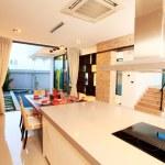 White furniture in a modern kitchen — Stock Photo #35085957
