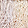 Stock Photo: Pearl necklace .