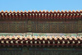 The roof of Temples of the Forbidden City in Beijing China. — Stock Photo