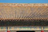 紫禁城在北京中国寺庙的屋顶. — 图库照片
