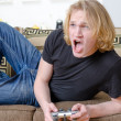 Royalty-Free Stock Photo: Playing video games