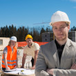 Architect and construction team  — Stock Photo