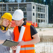 Two construction worker  — Stock Photo