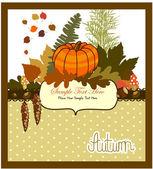 Autumn invitation — Stock Vector