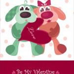 Valentines teddy — Stock Vector