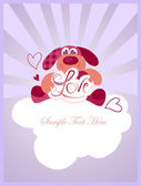 Valentines teddy — Vector de stock