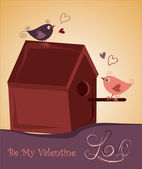 Home for love birds — Stock Vector