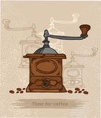 Antique coffee — Stock Vector