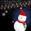 Snowman design for christmas background - Vettoriali Stock