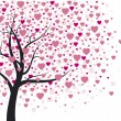 Heart tree — Vector de stock