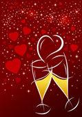 Alla hjärtans dag bakgrund — Stockvektor