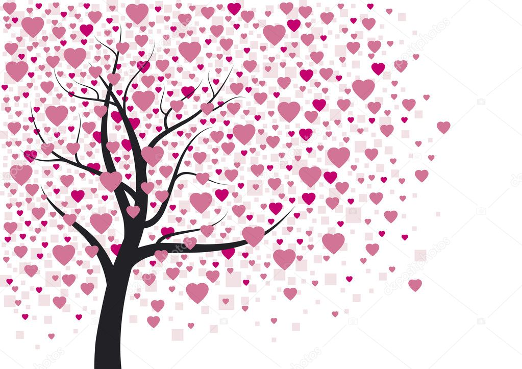 Heart tree  Stock Vector #19262671