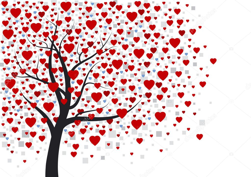 Heart tree — Stock Vector #19262679