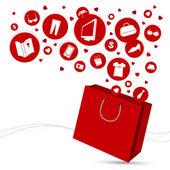 Shopping bag and fashion icon design — Stock Vector