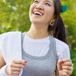 Stock Photo: Woman running in the park