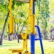 Exercise equipment in the park - Stock Photo