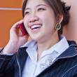 Stock Photo: Business woman talking on the phone