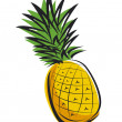Pineapple design - Stock Vector