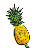Pineapple design — Stockvektor