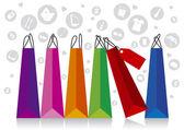 Shopping Display — Stock Vector