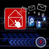 Send E-mail Design — Stock Vector